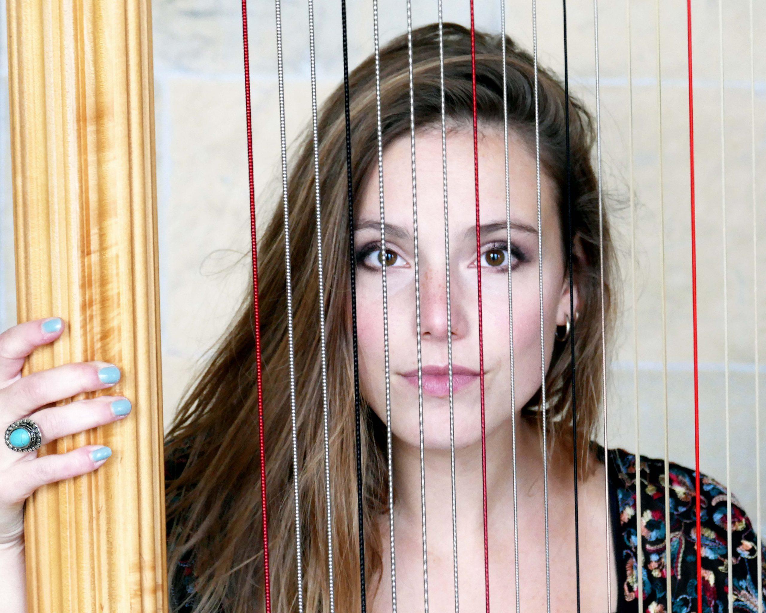 Laudine Dard Harpist at KCC London Ph: Morven Brown