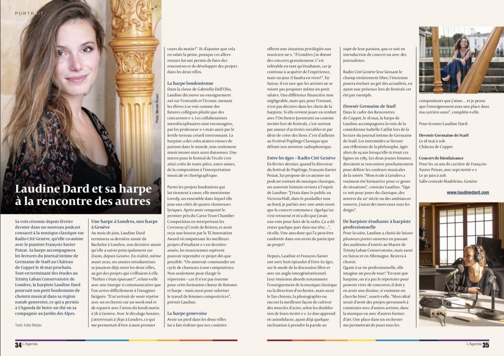Laudine Dard Interview l'Agenda 90